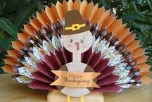Thanksgiving Crafts, Recipes, and Decorations / A board for all things Thanksgiving - from crafts and decorations to yummy recipes to serve for the big meal!