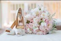 Bridal Shoes / Bridal shoe inspiration for brides-to-be accenting their bridal style