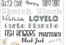Font Fascination / Fonts, dingbats, and printables