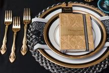 The Art of Place Setting / Beautiful place settings. Placecards, placemats, runners, napkins, and napkin rings ideas.