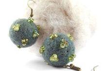 Jewelry / Handmade Wool Felt and Bead Jewelry by GEMMA / by Roberta Robezniece