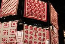 Red and white quilts / Love the red and white quilts.