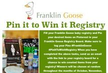 Pin it to Win it Registry Board / Create your dream registry with Franklin Goose / by Franklin Goose