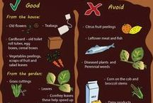 Composting / Different types of compost, handy infographics & general info about composting