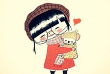 cute illustrations / ♥ illustrations cute as a button ♥ cute illustrations for kids and grown ups ♥ / by Sandra Meinlilapark
