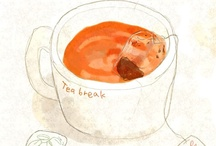 tea illustration / tea and tea time illustration, art, drawings, sayings and posters I love ♥♥♥ / by Meinlilapark