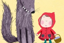 little red riding hood illustration / by Sandra Meinlilapark