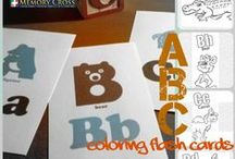 ABC Doodle Cards / This fun creative pack helps children learn their ABC's.  Each card contains four panels that are designed so they never  stop folding.  This captures the attention of kids making it easier for them to learn their ABC's.    The cards can also be colored on and then used a flash cards.  #education #funandlearning #alphabet