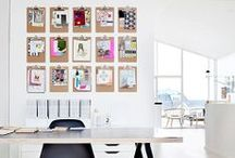 inspirational work spaces / work spaces ♥︎ working spaces ♥︎ offices ♥︎ creative ♥︎ office wall decoration ♥︎  / by Sandra Meinlilapark