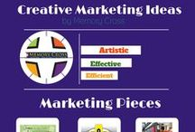 Creative Marketing Ideas Cards / An extension part of Memory Cross using the 4 panel origami card in creating advertisement and amazing business calling cards as a medium of effective Business marketing Strategy.  #business #marketing #advertisement #callingcards
