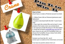 Pin It to Win It! / Contests from Crane USA on Pinterest & our Blog! / by Crane USA