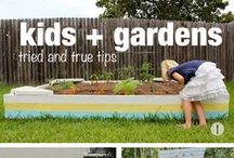 Garden Play / Playing in the garden is different from playing indoors. These are ideas to include in setting up a garden to excite and inspire children... / by Lucy Giffen