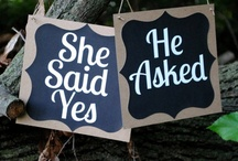 He asked .... She said yes / Is there a more romantic moment than when he pops the question?  We can't think of one!