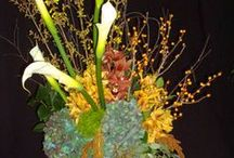 Assorted Vases of Flowers / A wide assortment of vases with different design styles that we have created over the years...