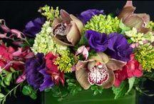 Flowers in Rectangular Glass