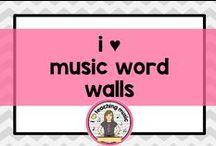i ♥ music word walls