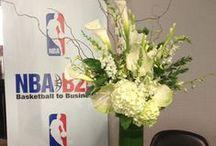 Flower Decor at NBA Draft 2013