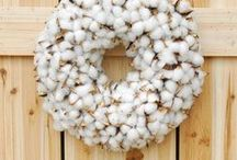 {Crafty} Wreaths & Door Hangings / A little bit of everything for your front door to create a warm welcome.
