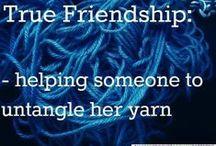 Yarn quotes and funnieness / by Mai Britt Goldenbeck Heide