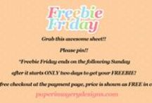 PID Freebie Friday ~ / Grab this awesome sheet!! Please pin!! *Freebie Friday ends on the following Sunday after it starts ONLY two days to get your FREEBIE!  *Use free checkout at the payment page, price is shown as FREE in cart*