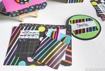 Chalk Talk Classroom Collection | Mardel Exclusive / Add pops of color to your classroom this school year with Chalk Talk! Keep your students engaged with vibrant, neon hues perfectly splashed on a black chalkboard background. Shop Chalk Talk today to create a lively classroom that's sure to keep students energized and ready to learn!