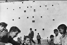 "Henri Cartier-Bresson / ""What reinforces the content of a photograph is the sense of rhythm – the relationship between shapes and values."""
