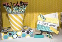 NEW! Brooklyn Classroom Collection | Mardel Exclusive / Give your classroom a contemporary makeover with Brooklyn Décor and accessories! Geometric patterns and prints mixed with a simple color palette offer a hint of vintage flair and instantly add sophistication to any teaching space.