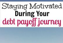 Debt / Want to get out of debt? Ways to get off debt by starting a side hustle, saving more money, staying motivated while paying off debt, and finally getting debt paid off.