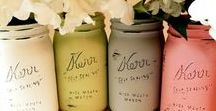 {Crafty} Mason Jars & Containers / Crafty and adorable things to do with mason jars.