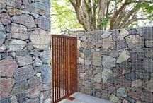Gabions / Gabion walls are widely used in  landscape construction for retaining but their application in the garden is something that is the average homeowner can use to create beautiful garden features. They are incredibly versatile you can often use materials that are recycled or that are readily available onsite.