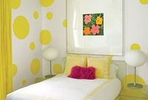 DIY Home Improvement! / PureModern loves DIY projects. Creativity is the key here where items have been repurposed, enhanced, or juxtaposed in a room that makes a drab piece look stunning. Just a bit of paint can make a room pop, much like Tommy Hilfiger's guest bedroom yellow dotted wall treatment created by Martyn Lawrence Bullard. PureModern wants to see how you are improving your space with modern pieces, new or old, but definitely modern. / by PureModern