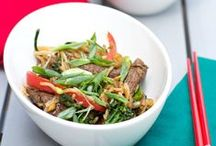 Summer of Stir-Fry / Join Circulon for seasonal and sizzlin' summertime stir-fry dishes sure to make your mouth water. But these aren't your ordinary stir-fry recipes — these are recipes that give traditional stir-fry a run for its money. With help from a few of our food blogger friends, we're bringing you a unique take on easy summer stir-fry. Bloggers include The Girl in the Little Red Kitchen, Cravings of a Lunatic, Creme de la Crumb, Crunchy Creamy Sweet, The Realistic Nutritionist, and Sweet Treats & More.