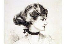 Gibson Girl / ≒ Gibson Girls ≓ Illustrations from the Belle Époque - Charles Dana Gibson.