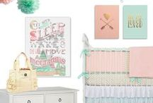 Nursery Design / Find fabulous and modern nursery decor for your new bundle of joy. From cute nursery wall decor to trendy wall signs and crib bedding!