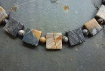 sieraden van eigen atelier / jewelry from atelier In de roos /  semi precious stones and silver.                inderoos@xs4all.nl