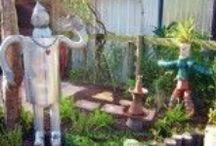 Re-Purposed Backyard by Backyard Getaway / Fun and useful garden decor created from re-purposed items