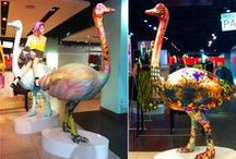 TOPSHOP / Prop Studios produced a production run of large ostriches for Topshop Oxford Circus store.