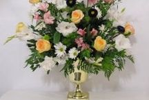 Church Wedding Decorations / Learn how to make bridal bouquets, wrist corsages, groom boutonnieres, reception table centerpieces and church flower decorations.  Buy wholesale fresh flowers and discount florist supplies.