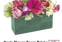 Floral Foam / Professional Max-Life foam by Oasis.  Learn how to make bridal bouquets, corsages, boutonnieres, wedding reception table centerpieces and church decorations.  Buy fresh flowers and discount florist supplies.