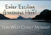 Giveaways at This West Coast Mommy / Enter these giveaways at http://thiswestcoastmommy.com