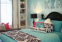 interior - Elizabeth's Tween Room / Ideas and inspiration for decor and furnishings of a rambunctious and busy little girl's room.