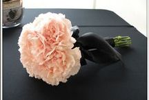 Carnation Wedding / Using carnations as bridal bouquets, corsages, boutonnieres, creative centerpieces, church flowers and much more!