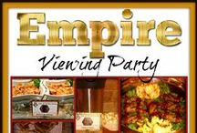 Empire Viewing Party: TOTBC Client Lookbook / This is a looking into one of our catering client's events.  Check out this Empire Season 2 Premiere Viewing Party theme we catered a few days ago.  Taste Of The Best Catering created a #CustomThemedMenu for this event, complete with custom Menu Label Cards, and Full sized Menu Cards for the guests to take home with them, from the party. / by Taste Of The Best Catering