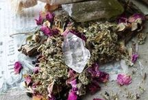 Crystals, herbs, candles