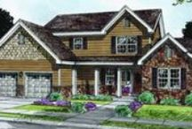Two Story Home Plans / Front exterior photos and artist renderings of two story home designs built exclusively by Fine Line Homes.