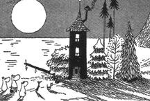 Moomins in B&W