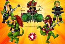 Heavysaurus on Tour interactive children's storybook / https://itunes.apple.com/app/hevisaurus-keikkailee/id555616854