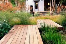 Pathway Creations / Creative walkways and paths made of lumber