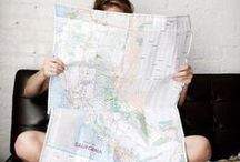 On the map / Where to? Maps & globes as inspiration / by ROZENBROOD picturing the future