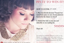 Pin It to Win It! / 1. Pin your favorite Jeannie Vianney lace cast jewelry piece to one of your pinterest boards for the chance to win it!  2. Submit the link to your pin below and subscribe to our mailing list. http://www.byjeannie.com/win  Contest entries accepted during the entire month of September 2012!
